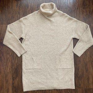 NWT beige turtle neck sweater dress - size L